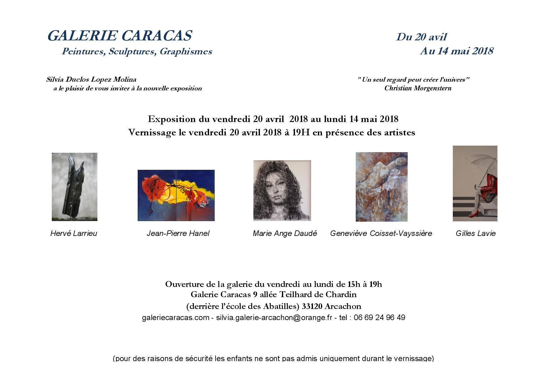 Gilles Lavie artiste peintre - Exposition Galerie CARACAS à Arcachon - du 20 avril au 14 mai 2018