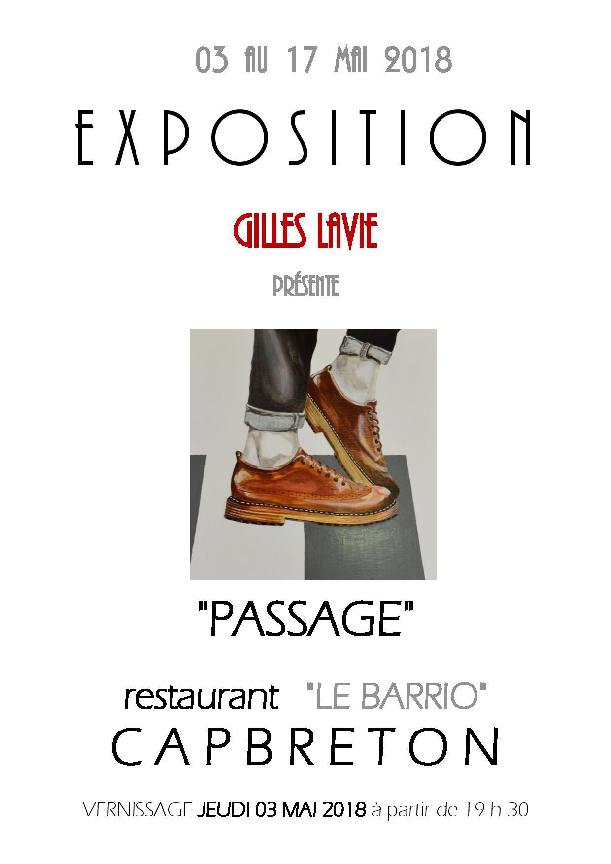 Gilles Lavie artiste peintre - En mai 2018 Exposition dans le restaurant LE BARRIO à Capbreton