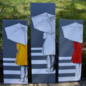 Collection Passage_Gilles Lavie_Passantes sous parapluie