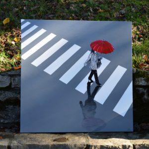 Collection Passage_Gilles Lavie_La dame au parapluie rouge II