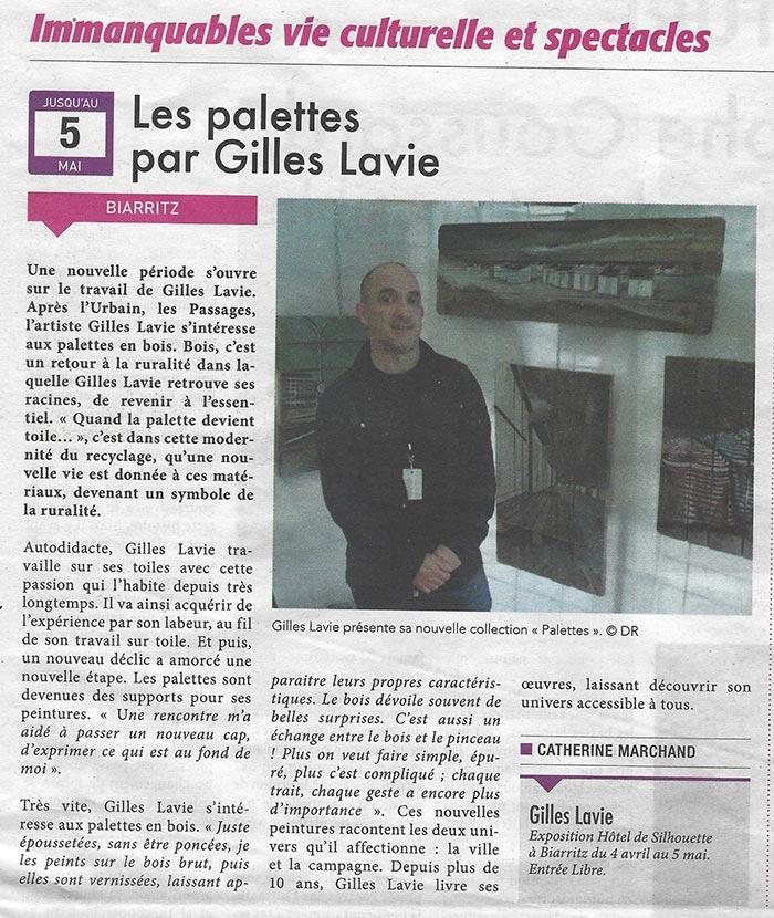 """Coupure de presse du journal """"La semaine"""" du 05 avril 2019"""