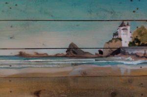 La Côte des Basques par le peintre G. Lavie