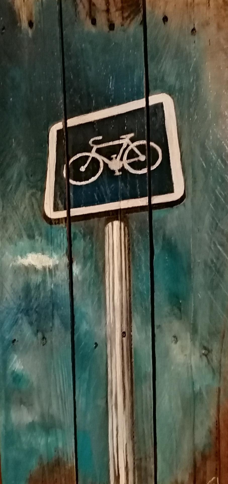 Panneau peint sur palettr- Gilles Lavie