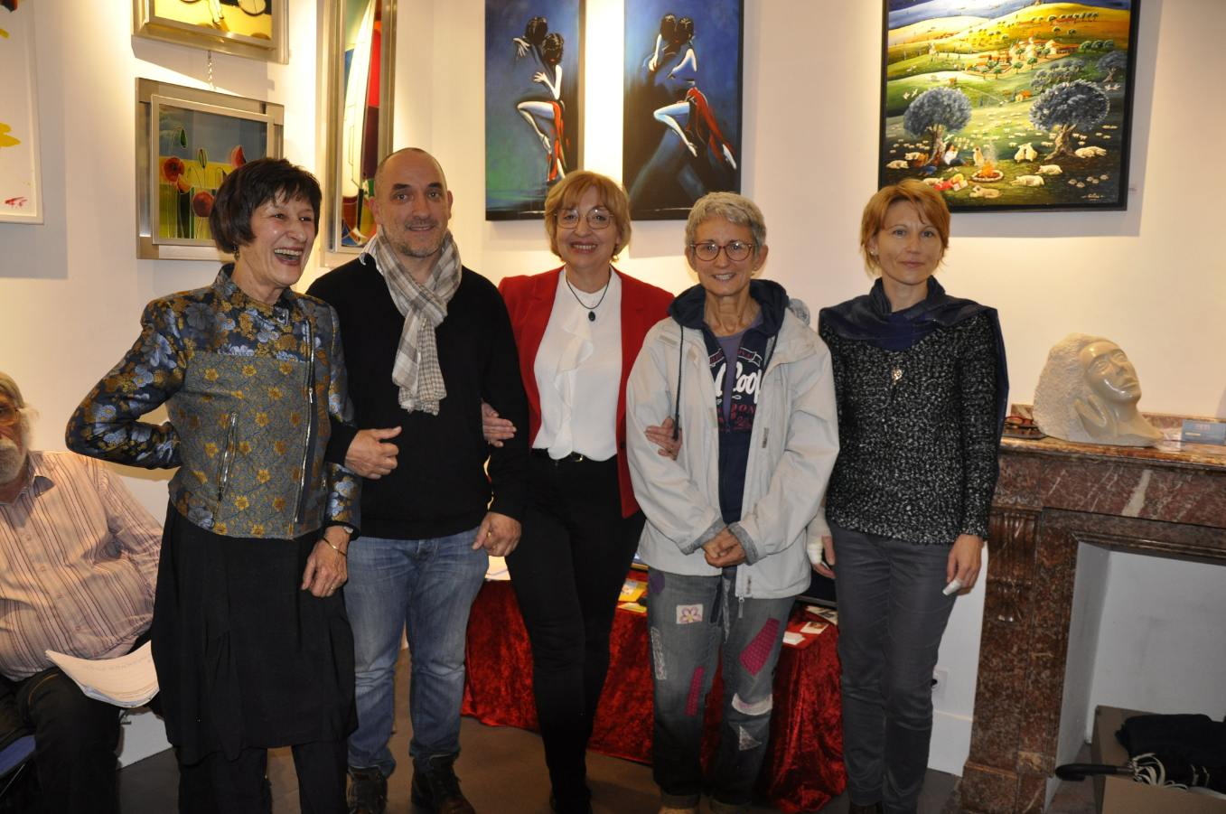 Gilles Lavie et autres lauréats de l'expo-concours de la galerie Mage (Toulouse), novembre 2019