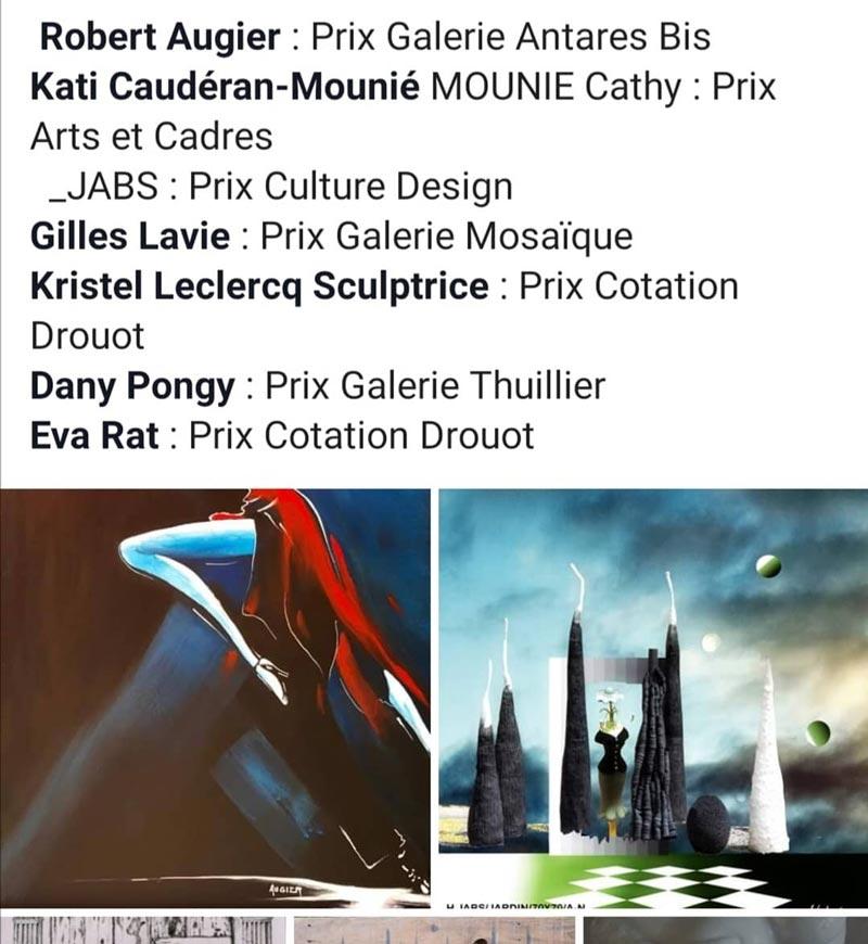 Noms des lauréats du concours et prix attribués