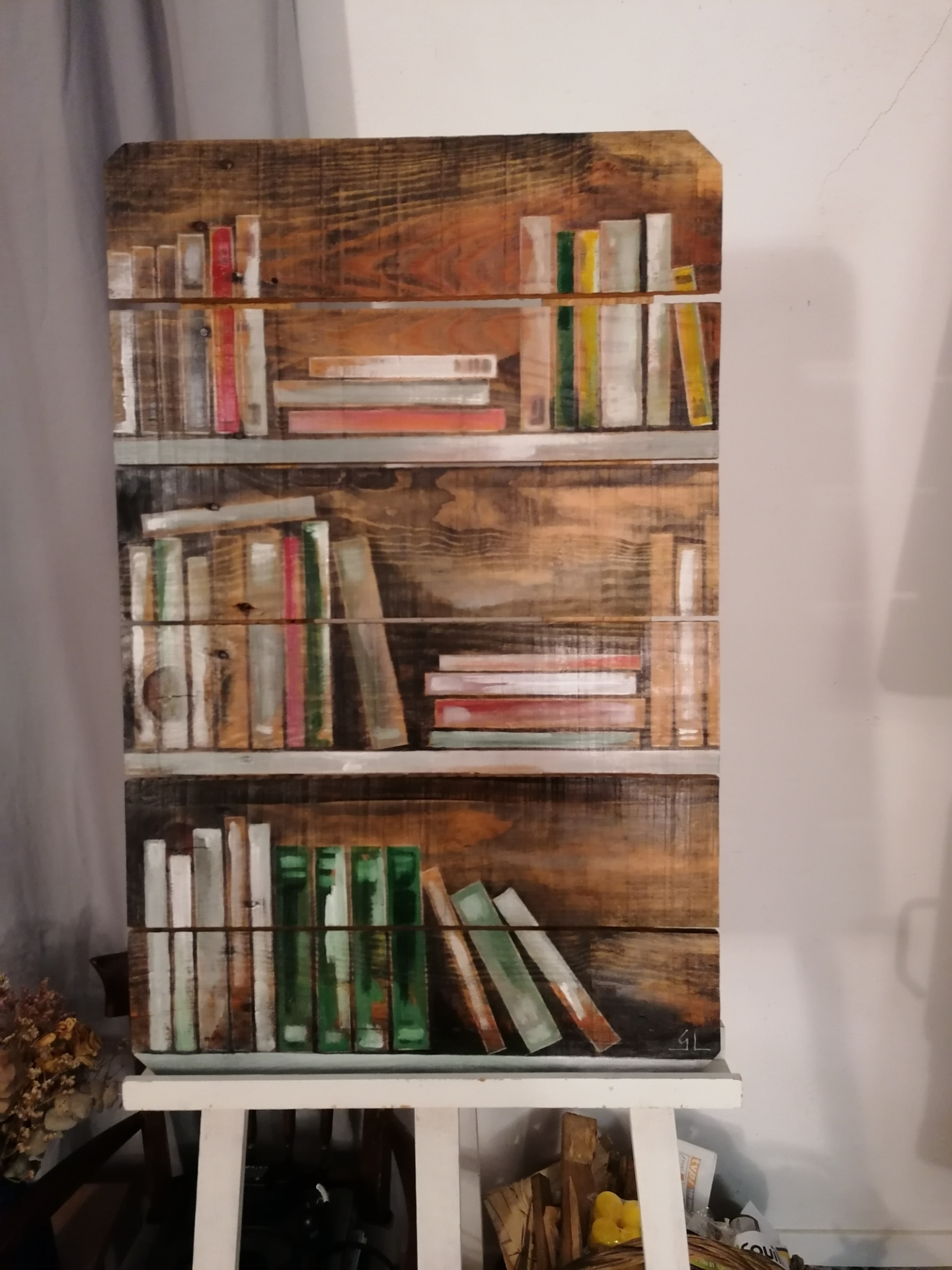 palette peinte: bibliothèque