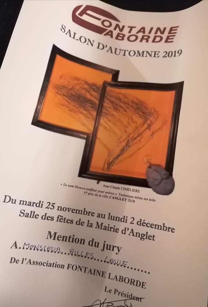 Prix du Jury pour Gilles Lavie pour la palette peinte train en perspective