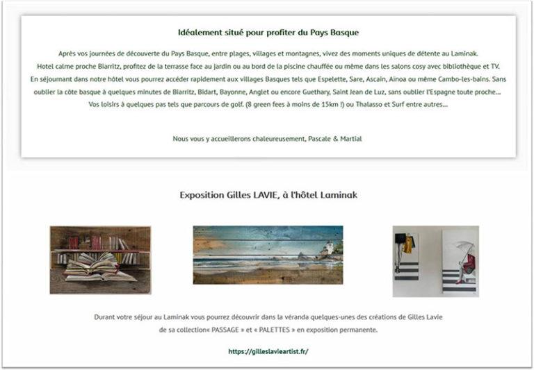 Expo-permanente_Arbonne_Hôtel Laminak