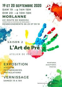 Affiche l'art de pré 2020, où expose Gilles Lavie