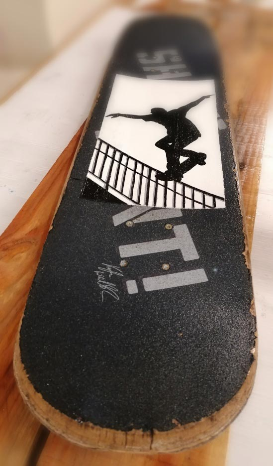 Peinture sur skate