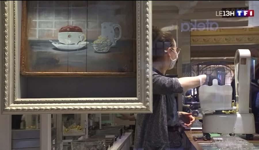 palette peinte chez le chocolatier Cazenave à Bayonne Gilles Lavie