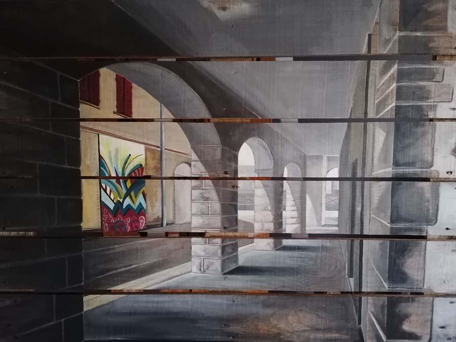 palette peinte rue de bayonne Gilles Lavie
