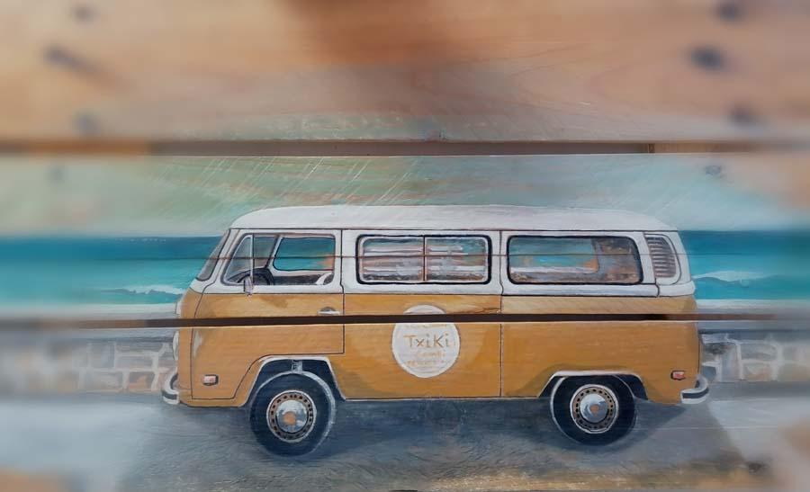 palette peinte van à Biarritz Gilles Lavie