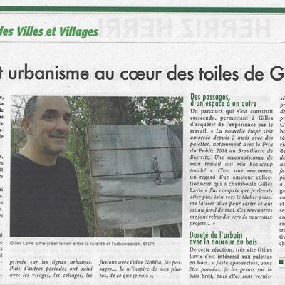 Article du Journal La semaine du 11 janvier 2019, Gilles Lavie